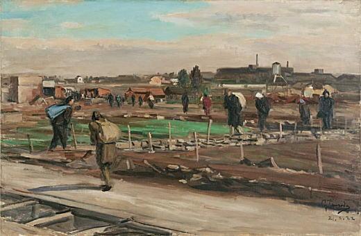 鶴田吾郎「池袋への道」1946.jpg