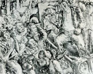 黒澤明「建築現場に於ける集会」1929.jpg